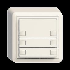 AP-Universaltaster 3x2 für Schraubklemmen EDIZIOdue ohne LED,FX