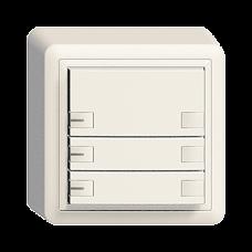 AP-Universaltaster 3x2 für Schraubklemmen EDIZIOdue mit LED,FX