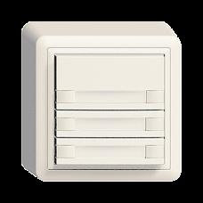 AP-Universaltaster 3x2 für Schraubklemmen EDIZIOdue mit Papiereinlage,FX