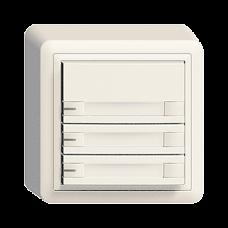 AP-Universaltaster 3x2 für Schraubklemmen EDIZIOdue mit Papiereinlage und LED,FX