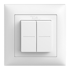 Smart Light Control Feller EDIZIOdue Philips Hue, 4K/2T, batterielos,FMI