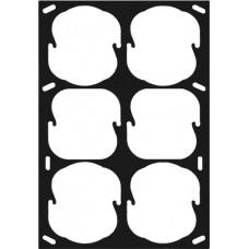 Befestigungsplatte 3x2 Smoove