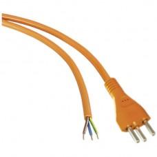 Anschlusskabel 3x2,5mm² 5m PUR Stecker T23 angespritzt orange