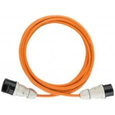 G-Pur-Kabel 5x4mm2 12m or mit Stecker+Kupplung CEE 7h 32A 5L