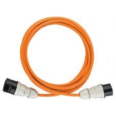 G-Pur-Kabel 5x4mm2 15m or mit Stecker+Kupplung CEE 7h 32A 5L