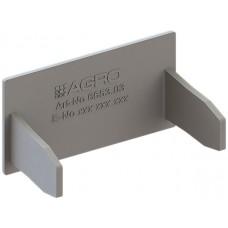 Abschlussplatte grau zu Kanal 35x20mm Agro