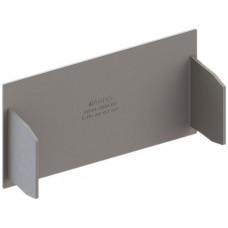 Abschlussplatte grau zu Kanal 110x60mm Agro