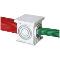 Bodendose KSR-Quadro 20x20cm grau zu KSR-Rohre M40-M125