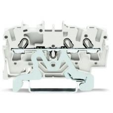 3-Leiter-Schutzleiterklemme 2.5mm² WAGO CAGE-CLAMP weiss 100stk