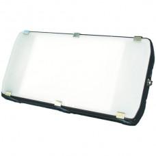 AP-LED-Strahler Elbro 120W 5300K IP65 Opal schwarz