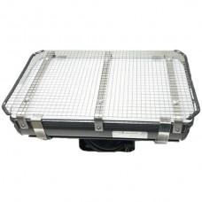 AP-LED-Strahler Elbro 120W 5300K IP65 kurz Opal Gitter schwarz