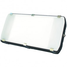 AP-LED-Strahler Elbro 240W 5300K IP65 Opal schwarz