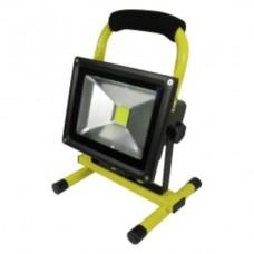 Akku-Scheinwerfer LED 20W mit Batterie: 7,4V 8,8A li-ion