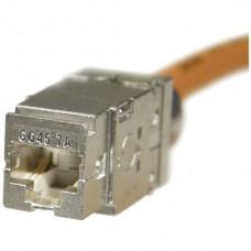 Buchse LANmark-7A Cat7A GG45/s 1000MHz, Snap-In, für Draht