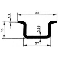 Profilschiene gb, verzinkt L=2m 35x15x2,3mm EN 50022-35