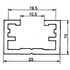 Befestigungsschiene 25x15mm Aluminium L=3m Almatec AN 25