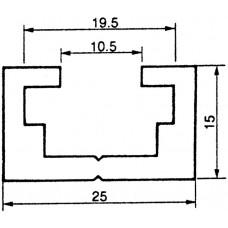 Befestigungsschiene 25x15mm Aluminium L=3m Almatec AN 25.2