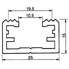 Befestigungsschiene 25x15mm Aluminium L=3m Almatec AN 25.4