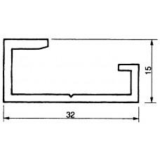 Klemmschiene Alu 32x15mm L=3m EN 50035-G32 Almatec AN 32
