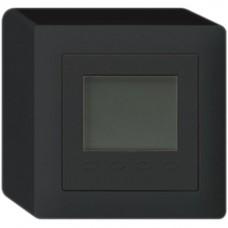 AP-Raumthermostat Hager KALLYSTO Q, Display, schwarz