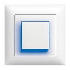 UP-Leuchtdrucktaster EDIZIOdue colore A-R/1P 1L, Seitenlinse mit LED Gelb/Weiss/Grün/Rot/Blau Kontrolllampe