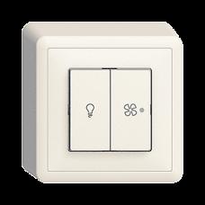 AP Druckschalter für Licht und Ventilatoren Beleuchtet Feller EDIZIOdue FX39