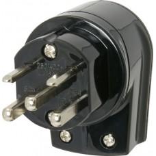 Netzstecker T25 schwarz 16A 250/400VAC 3L+N+PE vertikal