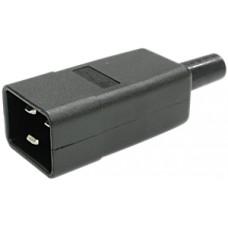 Apparatestecker Steffen C20 70° schwarz
