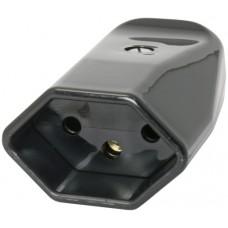 Kupplungssteckdose T&H T13 schwarz Kabeleinführung Ø11,5mm