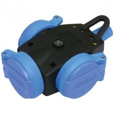 Dreifach-Gummikupplung STEKO 3×T13 schwarz/blau IP44