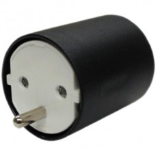 Adapter FIX CEE7/DE Kupplung T12 Stecker weiss