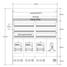 AP-Sicherungsverteiler HAG 2x3R/150 Module 1005x1270x97mm