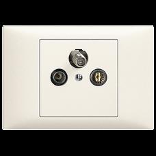 EB-Stichdose SAT/TV DB52 EDIZIOdue mit EC/F-Anschluss