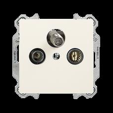 UP-Stichdose SAT/TV DB52 EDIZIOdue mit IEC/F-Anschluss