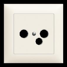 Frontplatte EDIZIOdue colore für R/TV/NET Dose 3-Loch FMI