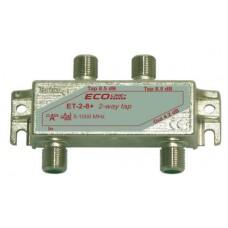 Abzweiger 2-fach ET-2-12+/N-G m.Modem Safe Cablecom