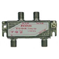 Abzweiger 2-fach ET-2-20+/N-G m.Modem Safe Cablecom
