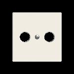 Frontplatte EDIZIOdue colore für Radio/TV Dose 2-Loch F