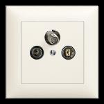 Antennen-Steckdosen TV-R-SAT 3-Loch