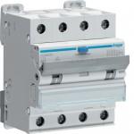 Fehlerstrom-Leitungsschutzschalter 4P 6kA C-13A 30mA A Typ ADM463C Hager