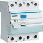 Fehlerstrom-Schutzschalter 4P 40A 30mA A Typ CDA440C Hager