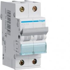 Leitungsschutzschalter 2 polig 6kA C-Charakteristik 13A 2 Module MCN213
