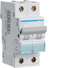 Leitungsschutzschalter 2 polig 6kA C-Charakteristik 16A 2 Module MCN216