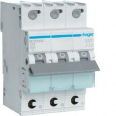 Leitungsschutzschalter 3P 6kA C-13A Quick Connect 3M MCS313C Hager
