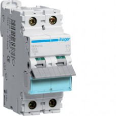 Leitungsschutzschalter 2 polig 10kA C-Charakteristik 13A 2 Module NCN213