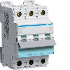 Leitungsschutzschalter 3 polig 10kA C-Charakteristik 16A 3 Module NCN316