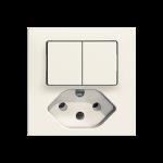 UP-Kleinkombination EDIZIOdue Einsatz zu Kombination T13 1/3+3/1P Doppel-Schalter/Steckdose