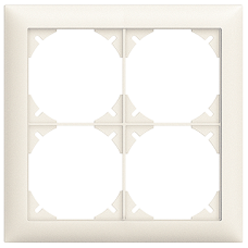 Abdeckrahmen EDIZIOdue colore 2x2