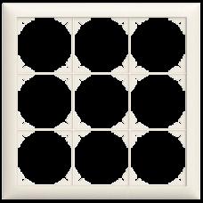 Abdeckrahmen EDIZIOdue colore 3x3