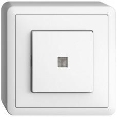 AP-L-Druckschalter 3/1L weiss EDIZIOdue Orientierungs- oder Kontrollbeleuchtung Frontlinse LED gelb Anbauhöhe 44mm FX.39